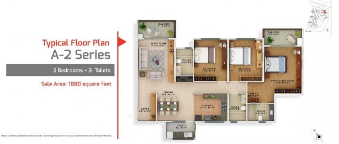 Vaswani Exquisite, Bangalore - Floor Plan