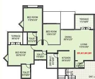 Paranjape Yuthika Apartment, Pune - Floor Plan