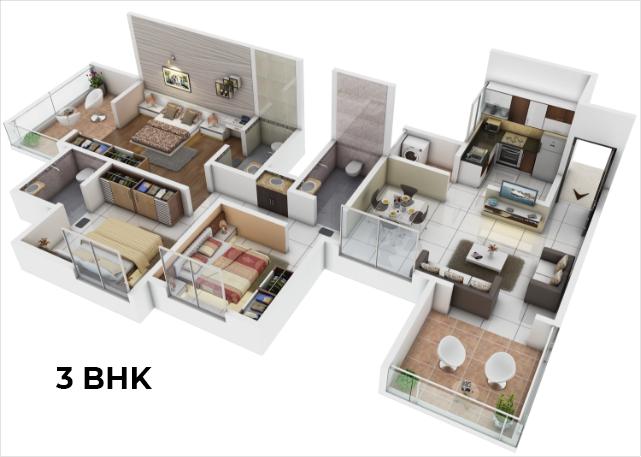 Konark Grand Casa, Pune - Floor Plan