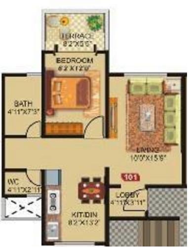 GK Rose Icon, Pune - Floor Plan