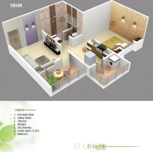 Bright Era El Castillo, Pune - Floor Plan
