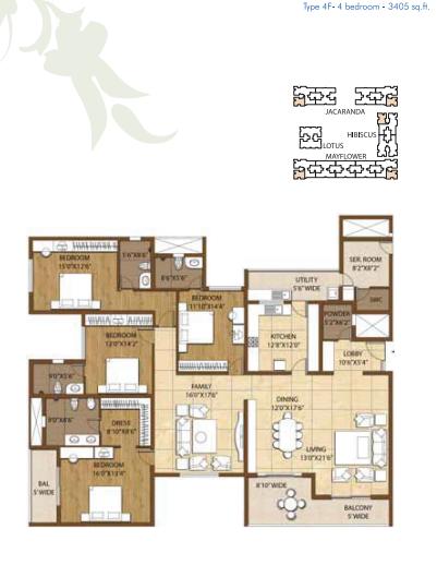 Adarsh Palm Retreat Condominiums, Bangalore - Floor Plan