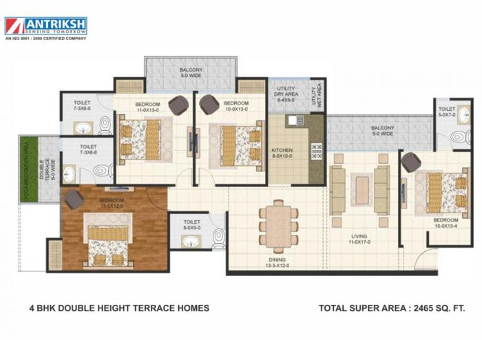 Antriksh Golf Links, GreaterNoida - Floor Plan