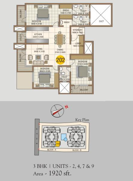 Comfort Heights, Bangalore - Floor Plan