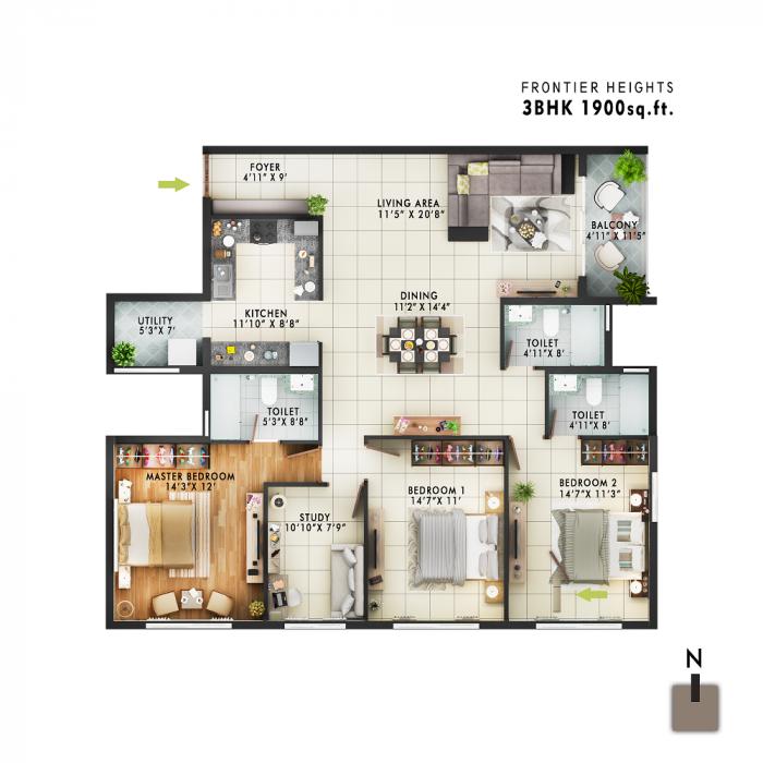 Frontier Heights, Bangalore - Floor Plan