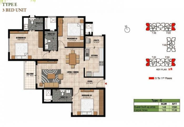 Prestige Willow Tree, Bangalore - Floor Plan