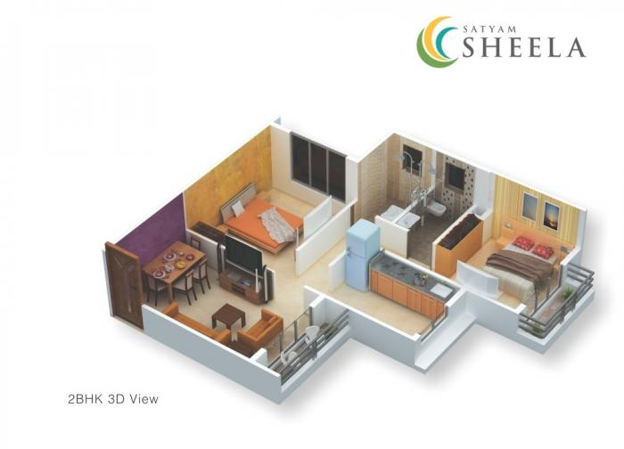 Satyam Sheela, Mumbai - Floor Plan