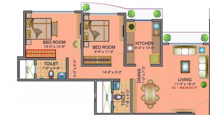 Shamik Elegant, Mumbai - Floor Plan