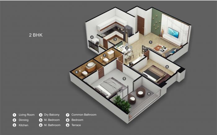 Ganga Amber, Pune - Floor Plan