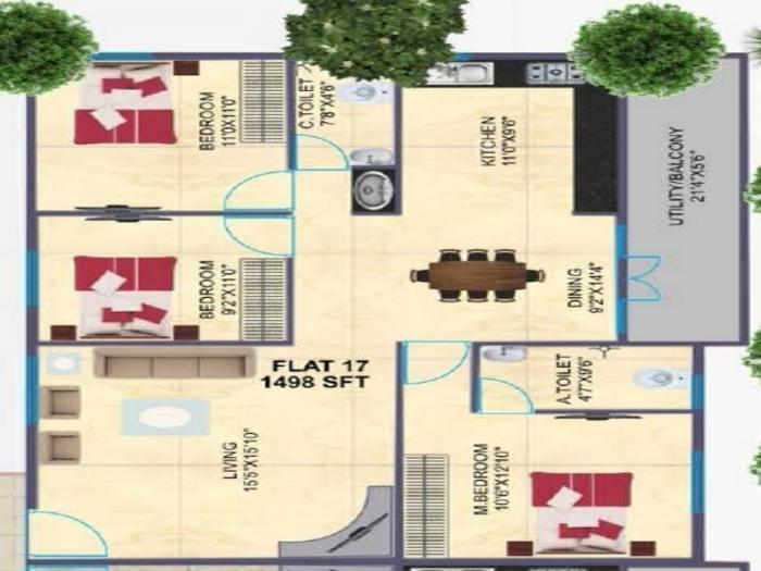 BSR Towers, Bangalore - Floor Plan