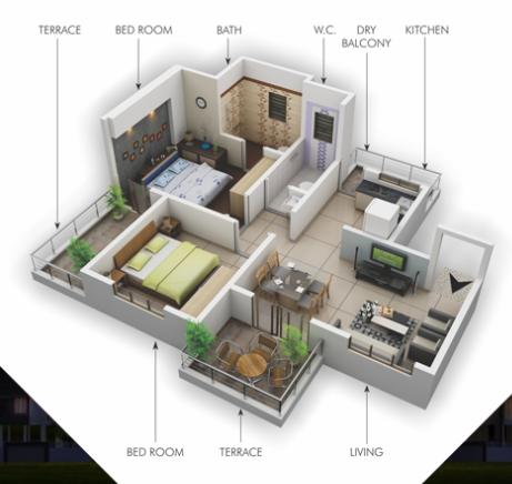 Venture Iskcon City, Pune - Floor Plan