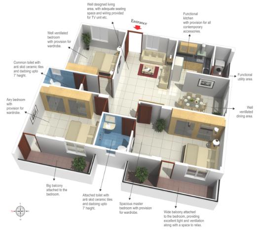 Pragathi Royale II, Bangalore - Floor Plan