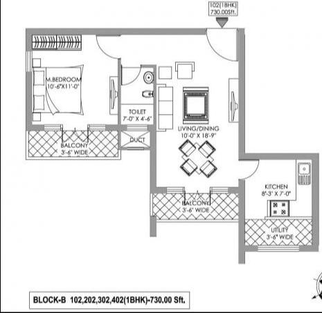 Clavier Florentine, Mangalore - Floor Plan