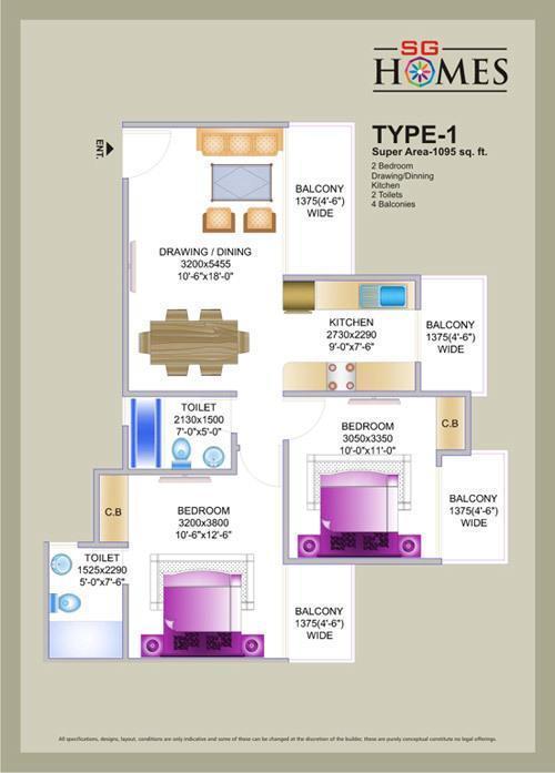 SG Homes, Ghaziabad - Floor Plan