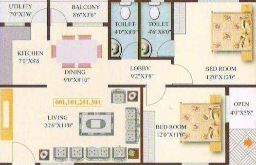 Florentine Residency, Bangalore - Floor Plan