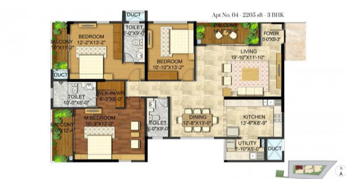 Rajarajeshware Manikchand 117 FF, Bangalore - Floor Plan