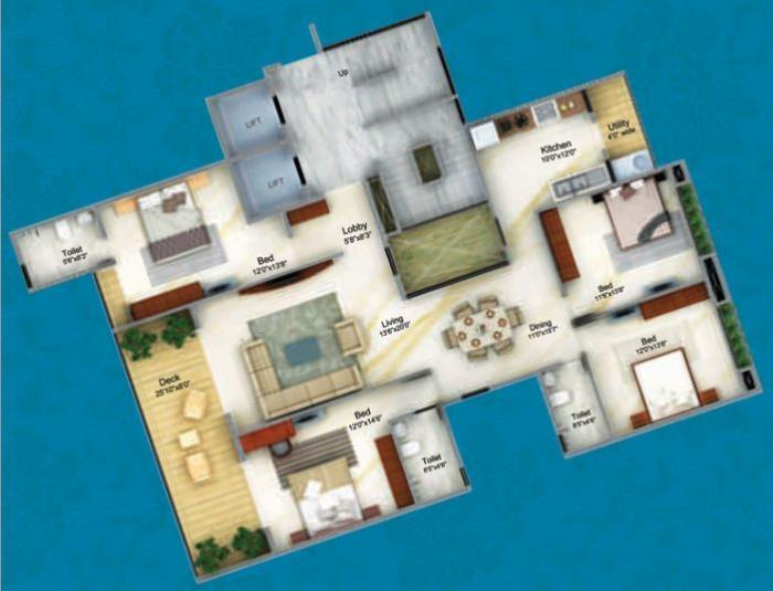 Patil Ekaant, Nashik - Floor Plan