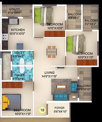 DSMAX STONESCAPE, Bangalore - Floor Plan