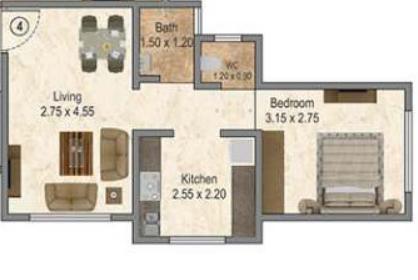 Patel Ekveera Aai Residency, Thane - Floor Plan