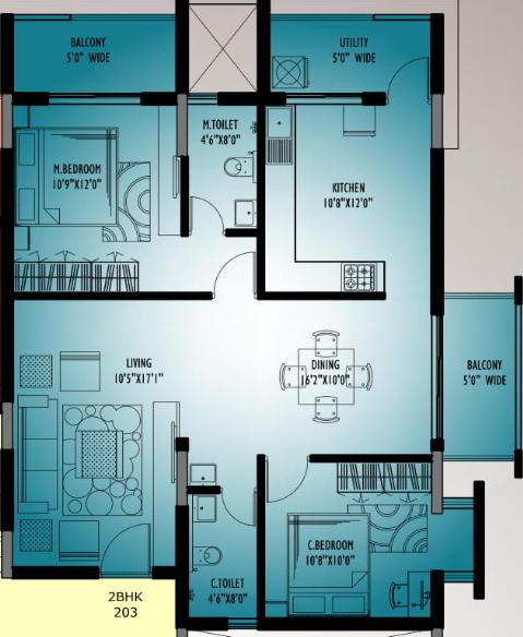 Nidhi Land Rosary Cottage, Mangalore - Floor Plan