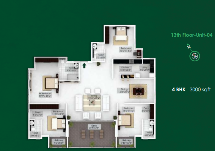 NorthernSky Palmstreak, Mangalore - Floor Plan