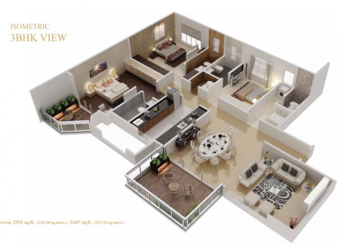 Konark Vista, Pune - Floor Plan