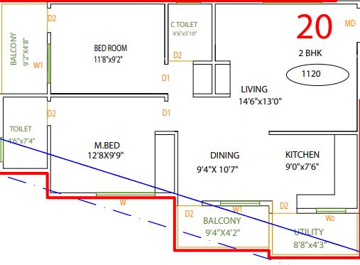 Vaastu Hill View II, Bangalore - Floor Plan