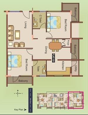 Manasa Subhindra, Mysore - Floor Plan