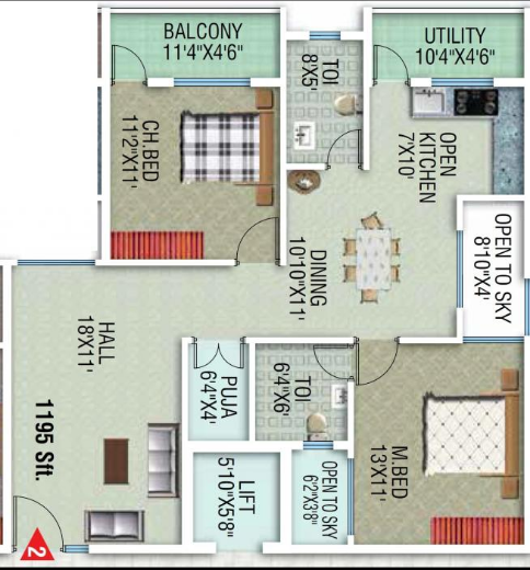 SMR Astra, Bangalore - Floor Plan
