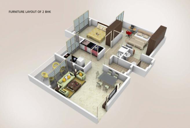 Arihant Akriti, Mumbai - Floor Plan