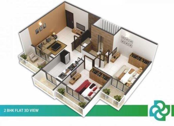 Saisha Residency, NaviMumbai - Floor Plan