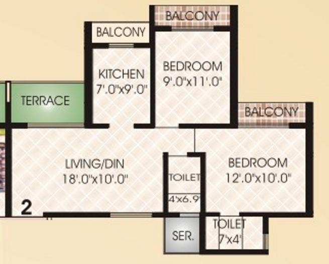 Juhi Nihaarika Residency, NaviMumbai - Floor Plan
