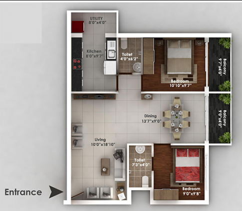 Bhandary Vijaya Enclave, Mangalore - Floor Plan