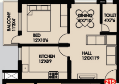 Matha Residency Haleyangadi, Mangalore - Floor Plan