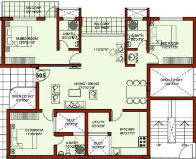 Providence Dasha, Mangalore - Floor Plan
