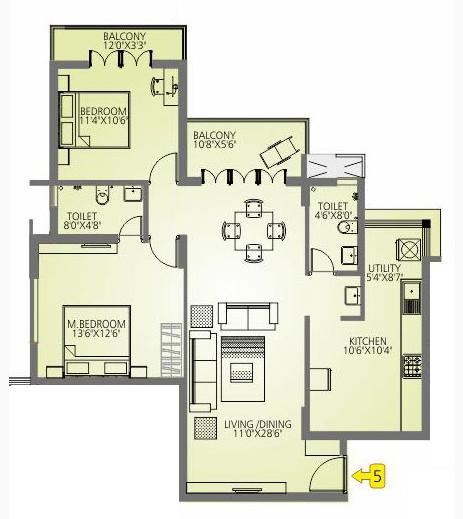 Ace Wood Haven, Mangalore - Floor Plan