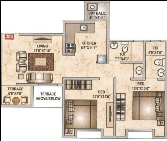 Happy Shubh Kalash, Pune - Floor Plan