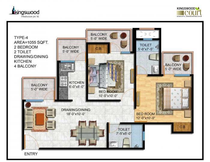 Kingswood Court, Ghaziabad - Floor Plan