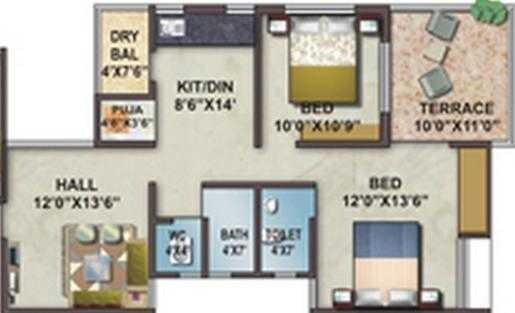 Shree Yashashree Apurvai, Nashik - Floor Plan