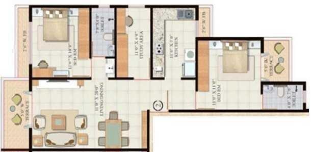Kshitiraj Springdale, NaviMumbai - Floor Plan