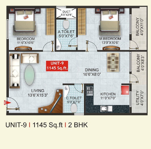 Amogh AMG Conclave, Bangalore - Floor Plan