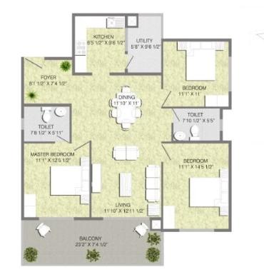 Mana Tropicale, Bangalore - Floor Plan