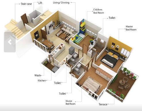 Shalwak Elite, Nagpur - Floor Plan