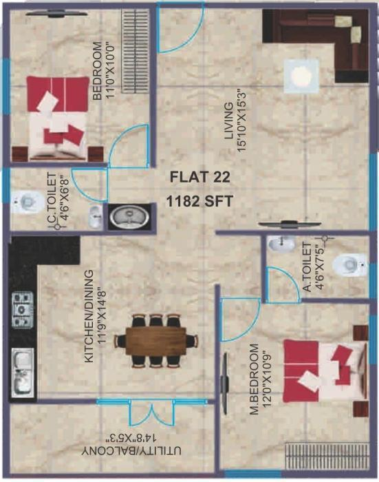 Bsr Towers In Tc Palya Road Bangalore Amenities Layout