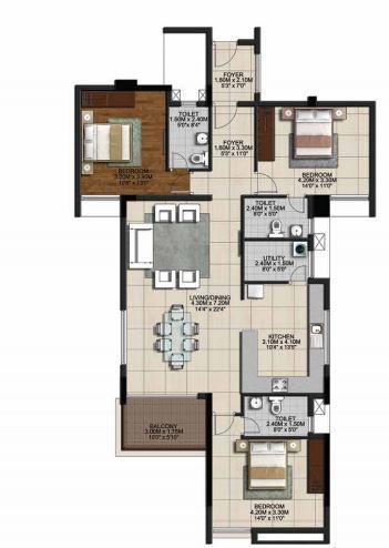 Casagrand Monte Carlo, Chennai - Floor Plan