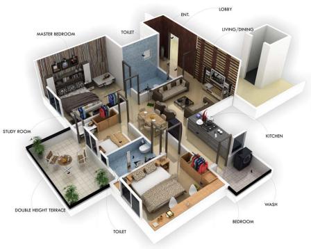 Sandeep Dwellers Nilgiri, Nagpur - Floor Plan