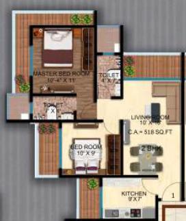 Navkar Pallazo, Mumbai - Floor Plan