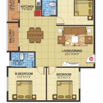 White Petals, Bangalore - Floor Plan
