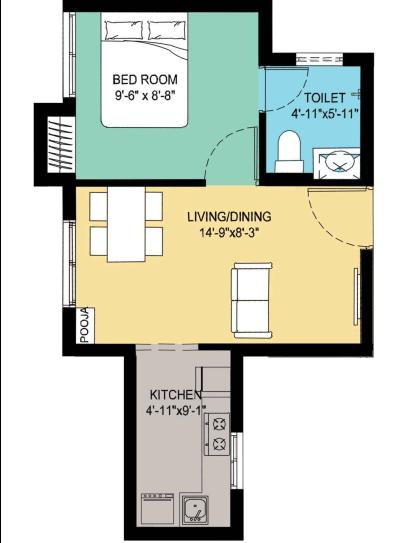 Arun Compact Homes Lathangi, Cuddalore - Floor Plan