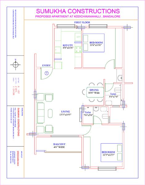 Sumukha Kalpavruksha, Bangalore - Floor Plan